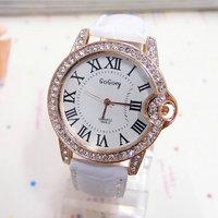Wholesale women wristwatches ladies rhinestone fashion leather strap quartz watch Women watches FS127