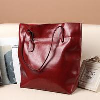 NEW 2014 women genuine leather bags oil wax leather handbags vintage bag totes shoulder bag bolsas femininas ladies fashion