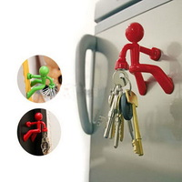 Super Man Magnet Key Pete Key Holder Strong Rack Magnetic Hook Hanger Free Shipping