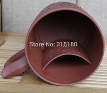 Wholesale Yixing Large Size Purple Clay Tea Cup Zisha Tea Cup Purple Grit Tea Set With