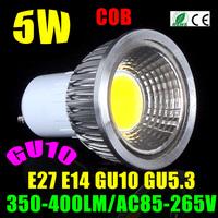10X Drop Shipping 85-265V Dimmable E27 GU10 MR16 Epistar COB 5W7W9W LED Light Bulb Led Spotlight White/Warm White Free Shipping