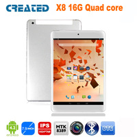 CREATED X8 3PCS/slot, 8 inch phablet quad core tablet pc android 4.2 GPS IPS 3G card slot