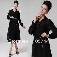 Free shipping 2014 New Arrive ladies long dress women's designer 2 piece high quality spring set dresses S,M,L,XL 82061