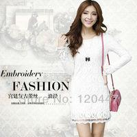 new 2014 summer spring brand M L XL2XL3XL lace elegant dress sexy women dress princess style dress whole sale retail free ship