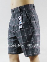 NEW Fashion 4Way Stretch Bermuda Shorts Men's Gray Surf Board Shorts 30 32 34 36 38 Swim Trunks Suit Pants BNWT Free Shipping