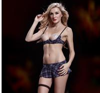 Women Fantasia Sexy Show Nipples Erotic Lenceria Lingerie Langerie Braless Quarter Open Cup Shelf Bra Brassiere Sutia Set