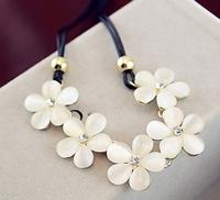 Free shipping New sweater chain Jewellry Hot Wholesales Flower Rinestones Pendant Choker necklace