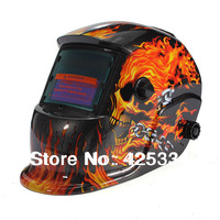 Welding Helmet Solar Energy Automatic Darkening Skull Protective Mask Free Shipping