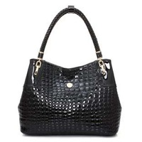 2013 autumn and winter genuine leather crocodile pattern vintage women's handbag fashion women's handbag one shoulder bag