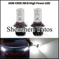 2pcs 9006 HB4 60W High Power Cree Vehicles Car Turn Auto Fog light lamp led