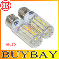 Ultra bright  new E27 SMD 5050 15W E27 LED corn bulb lamp, 69LEDs, Warm white / white,5050SMD led lighting,free shipping