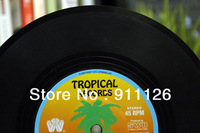 Free shipping New Design Nostalgic Vinyl Bookend Fashion Tropical records book holder student supplies stationery Cute xmas gift
