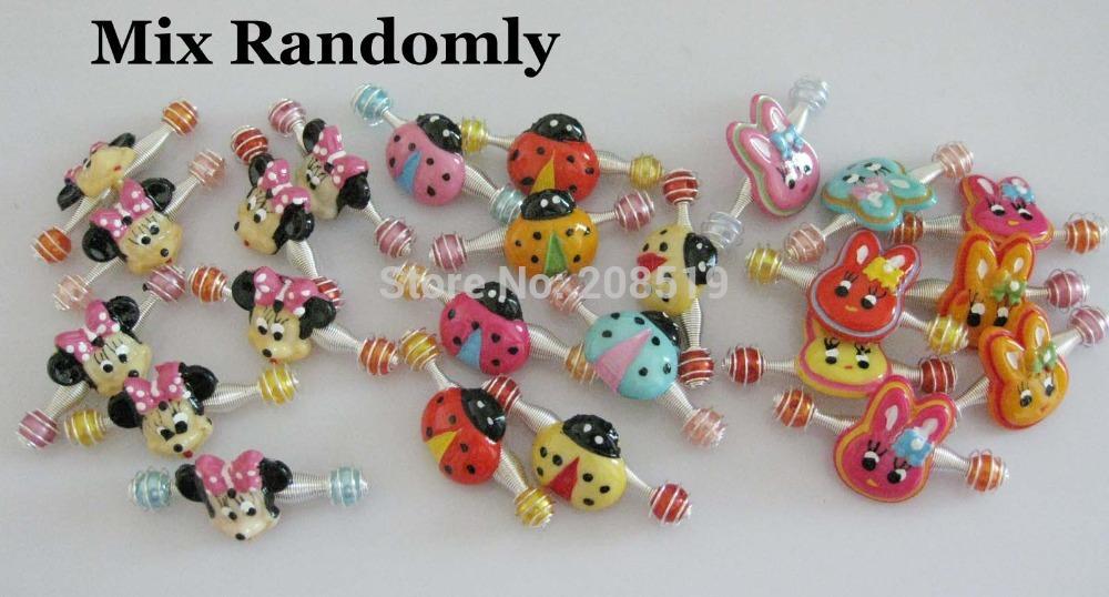 HJ0062 Kids Girl Hairclip spring barrettes 6cards(4pcs/card) 4cm Mix Minne&Rabbit&Ladybug Hair accessory(China (Mainland))
