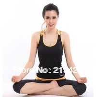 Yoga clothes fitness aerobics clothing vest capris set slim dance clothes