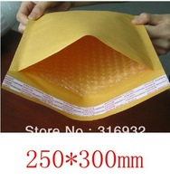 Free shipping 10 Pcs 250mm*300mm Kraft courier bubble bag envelop E6
