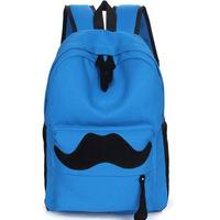 Cartoon canvas backpack student school bag  Women's backpack Zipper Shoulder Bag Schoolbag Korea Bookbag Fashion campus bag
