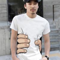 Fashion Male t-shirts men 's clothing big lovers short sleeve t-shirts short - 3d shirts