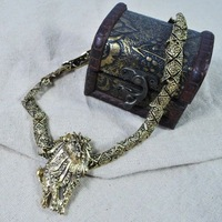 2014 Hot Vintage Golden Chain Lion Necklaces Women Dress Necklace