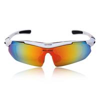 WOLFBIKE Cycling Sun Glasses Outdoor Sports Bicycle Glasses Bike Sunglasses TR90 Ski Goggles Eyewear 5 Lens White
