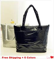 2014 Hot Down Cotton Women's Handbags Fashion Women Shoulder Bag 6 Color Patent Leather Bag Casual Totes