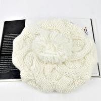 Holiday Sale Free Shipping Fashion Women's Winter Warm Knit Wool Beanie Hat Crochet Warm Pumpkin Ball Hat 9083