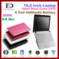 10.2 Inch Mini Laptop Notebook Computer with Intel Atom N2600 Dual Core 1.6Ghz, 2GB RAM, 320GB HDD, VGA, HDMI