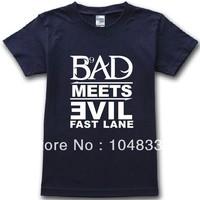 2014 new100% brand contton men t-shirts hip hop Eminem bad meets evil casual t-shirts t shirt man tee camisas top plus size