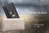 Coraldaisy New 2014 Spring  Wallet New arrival Purse Bowknot Cowskin  wallets Genuine Leather Wallets
