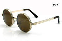 2014 NEW Round Sunglasses Women Men Unisex Eyewear Designer Gafas Fashion Style Metal Frame Eyeglasses 7738