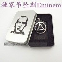 Free Shipping Eminem Best RAPPER Titanium Steel Necklace Pendant For Alcoholics Anonymous