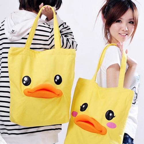 Duck 3 beauty jiada had bags duck bag cartoon canvas female shoulder bag(China (Mainland))