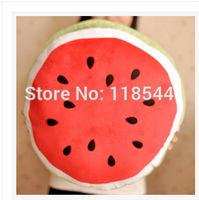 "17"" plush cushion 43cm plush watermelon cushion plush watermelon pillow girl's gift birthday gifts one piece free shipping"