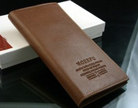 Free shipping!2014 new style business casual male wallets  long design leather wallets