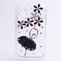 Handmade 3D Ballet girl Bling Diamond Case For Samsung Galaxy Y S5360