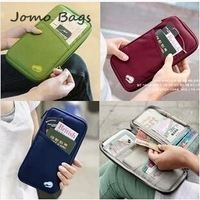 NEW WELL Casual Women Wallets Solid Color Travel Passport ID Card Clutch Wallets Key Hand Zipper Case Bags Pouch Wallet K093