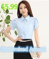 Free shipping women's fashion short sleeve blouse ,plus size blusa ,blouse women,slim shirt women S/M/L/XL/XXL