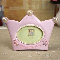 Child photo frame baby photo frame fashion child photo frame pink skyblue crown