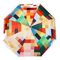 Three fold umbrella fun umbrella personalized plaid umbrellas