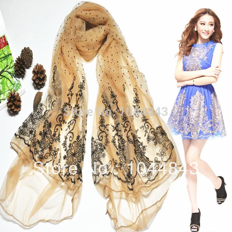 2015 new fashion spring high quality scarf women scarves print brand silk scarf spring dress chiffon cape shawls bandana(China (Mainland))