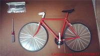 1: 5 All-Plastic Racing Simulation Model --- DIY Mini Bike/Bicycle Toys Red/Blue Bicycle