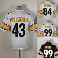 Free shipping men American Football Jerseys,Embroidery logos,Wholesale Original Quality steers jerseys ,size arrival