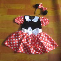 Kids GirlsPary Fancy Minnie Mouse Dress Mini Mouse Costume Ballet Tutu Dress+Ear 2-8Y 90-150cm girls dress