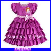 2014 spring and autumn new modelsSnow White cake purple short-sleeved dress xs 023