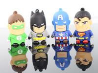 Real capacity Super Hero  man Flash Drive 8GB 16GB 32GB U Disk USB 2.0 Memory Flash Pen 2g 4g Thumbs Drive Disk Stick Gift