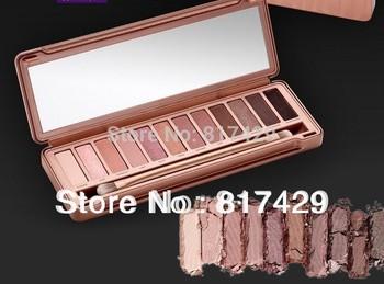 2014 новый NAKE макияж 3 тени для век палитра 12 цветов NK3 с кистью, Dropshipp