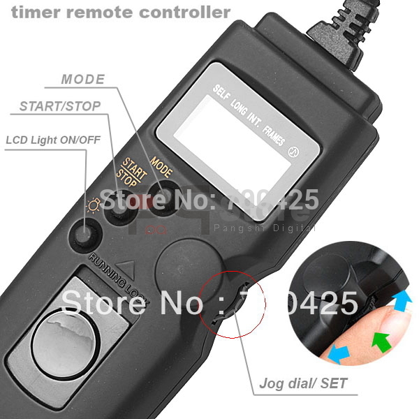 RS-60E3 Timer Remote shutter Release Cord For Canon EOS 550D 500D 60D 1100D Free Shipping(China (Mainland))