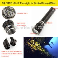 LED Flash torch 3xCREE XM-L2 4000lm Self-defense Hunting Flashlight Torch Lanterns Free shipping