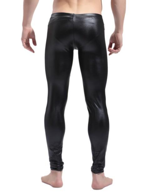 Mens Leather Pants Men 39 s Shiny Faux Leather Long