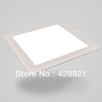 15pcs/Lot 20W square led panel lighting SMD2835x100LEDs warm white/cold white recessed led ceiling lamp down light free shipping
