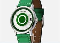 3PCS in stock! EK021 Novel Designer Eyki Teenager Candy Color Leather Strap Wristwatches Fashion Sports Watch Relogio Quartz